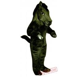 Black Mustang Mascot Costume