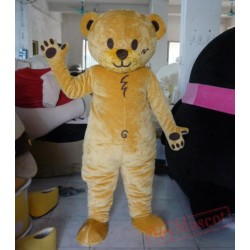 Yellow Teddy Bear Mascot Costume For Adult