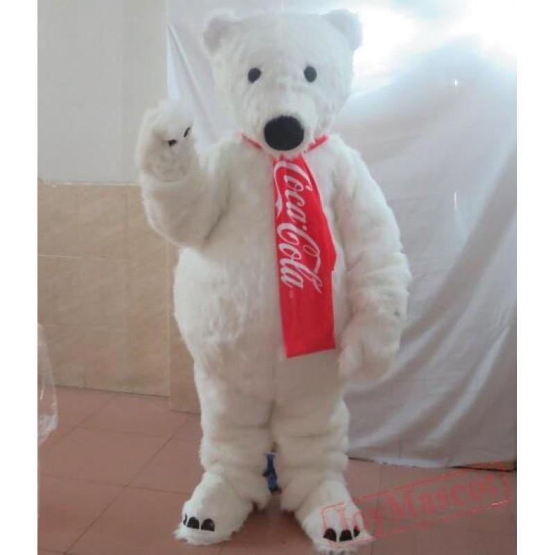 Adult Polar Bear Mascot Costume