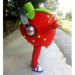 Music Strawberry Mascot Costume