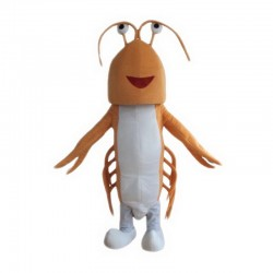 Orange Lobster Mascot Costume
