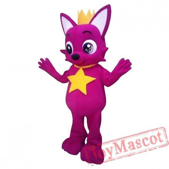 Pink Fox Mascot Costume for Adults & Kids