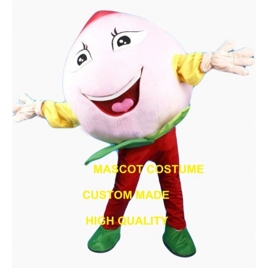 Peach Mascot Costume for Adult