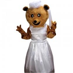 Wedding Bride Bear Mascot Costume