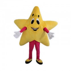 Yellow Five-Pointed Star Mascot Costume