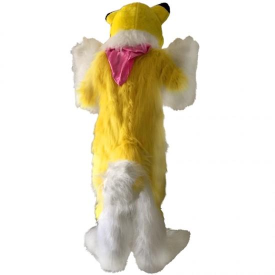 Yellow Fox Dog Husky Mascot Costume