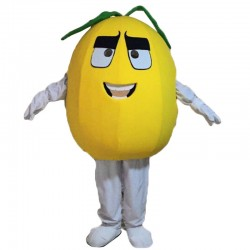 Yellow Pear Mascot Costume