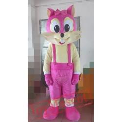 Pink Fox Mascot Costume Adult Fox Costume