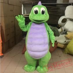 Green Dino Mascot Costume For Adult Dinosaur Costume