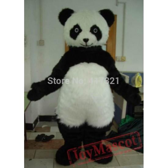 Furry Panda Mascot Costume Panda Mascot Costume For Adult