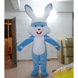 Adult Blue Bunny Mascot Costume