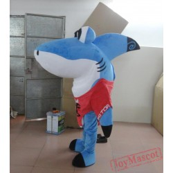 Blue Shark Mascot Costume Adult Shark Costume