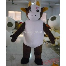 Adult Cow Mascot Costume Plush Cow Costume