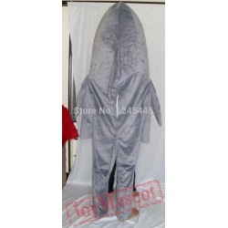 Can See Face Adult Shark Mascot Costume