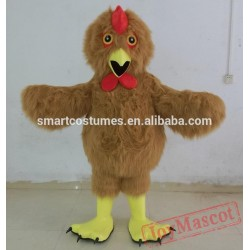 Furry Brown Rooster Costume Adult Rooster Mascot Costume