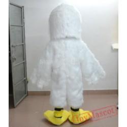 Adult White Furry Pelican Mascot Costume