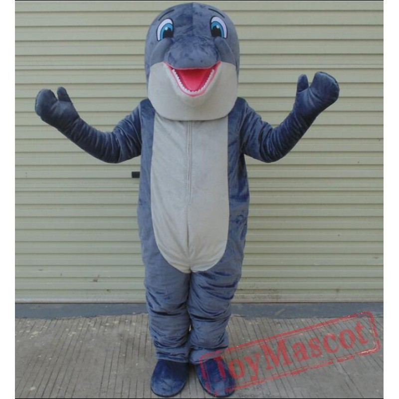 & 100% In-Kind Shooting Grey Dolphin Mascot Costume Adult Dolphin Mascot