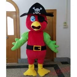 Adult Pirate Parrot Mascot Costume
