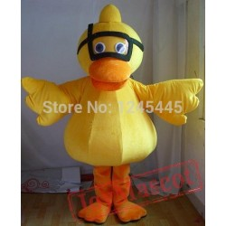 ellow Diving Duck Mascot Costume For Adult