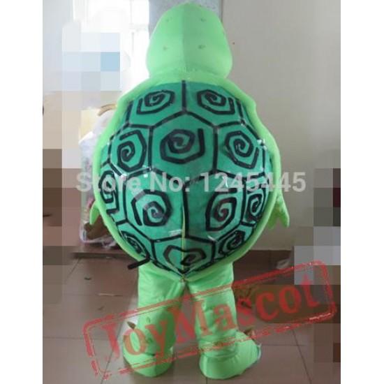 Adult Green Sea Turtle Mascot Costume