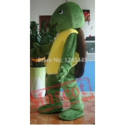 Green Sea Turtle Mascot Costume For Adult