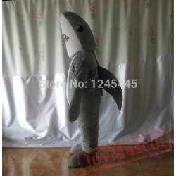 Grey Shark Whale Mascot Costume For Adult