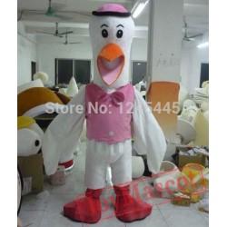 Adult Crane Mascot Costume