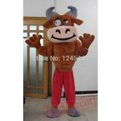 Adult Muscular Bull Mascot Costume