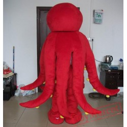 Adult Red Octopus Mascot Costume