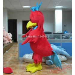Adult Red Chick Mascot Costume