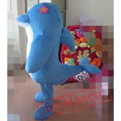 Good Visual Adult Blue Dolphin Mascot Costume