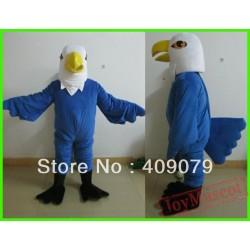 Adult Blue Eagle Mascot Costume