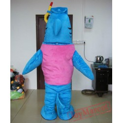 Blue Shark Mascot Costume For Adult