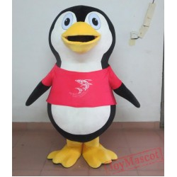 Red Penguin Mascot Costume For Adults