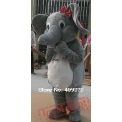 Adult Grey Colour Elephant Mascot Costume