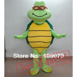 Green See Turtle Mascot Costume For Adults