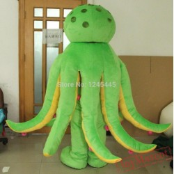 Green Octopus Mascot Costume For Adult