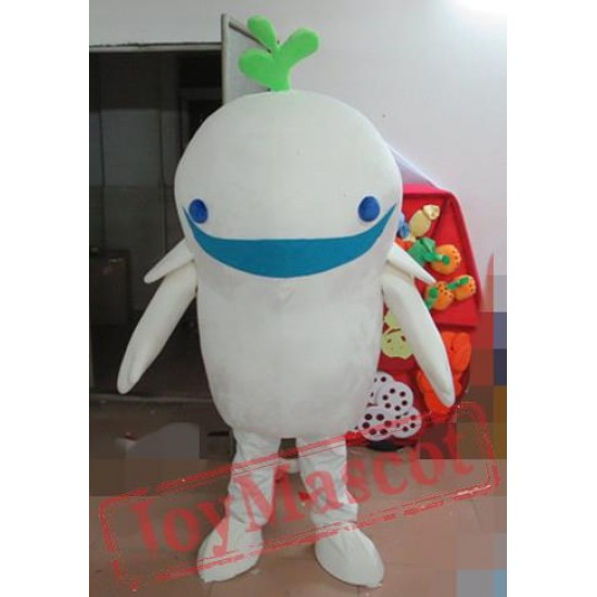 Adult White Whale Mascot Costume
