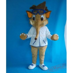 Costume With Good Ventilation Elephant Mascot Costume For Adult
