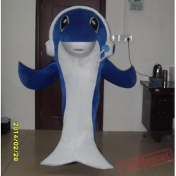 Bule Adult Dolphin Costume Dolphin Mascot Costume