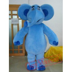 Blue Elephant Mascot Costume For Adults For Adults