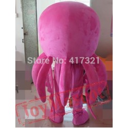 Pink Octopus Mascot Costume Adult Octopus Mascot