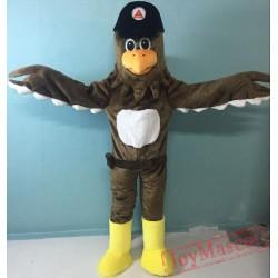Happy Eagle Mascot Costume Adult Eagle Costume
