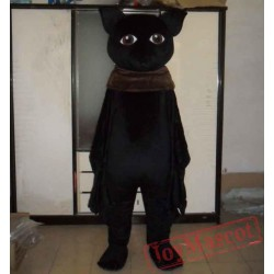 All Black Bat Mascot Costume Adult Bat Mascot