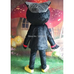 Black Owl Mascot Costume Adult Owl Costume