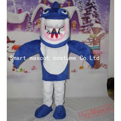 Blue Shark Costume Ocean Shark Mascot Costume For Adult