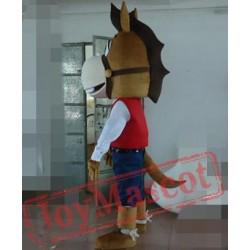 Cool Horse Mascot Costume For Adults