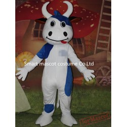 Blue And White Ox Costume Adult Ox Mascot Costume