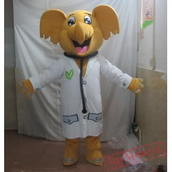 Doctor Elephant Mascot Costume For Adult