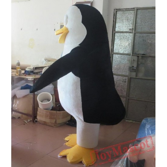 Happy Adult Penguin Mascot Costume Plush Penguin Costume